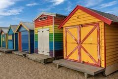 Les boîtes se baignantes colorées à Brighton échouent à Melbourne, Australi image stock