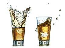 Les boissons avec éclabousse Photo libre de droits