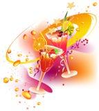 Les boissons de la réception illustration stock