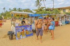 Les boissons s'élève à la plage Jericoacoara Brésil Photo stock