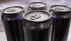 Les boissons vides peuvent photo libre de droits