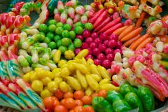 Les bonbons thaïs colorés Images libres de droits
