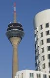 Les bornes limites de Dusseldorf en Allemagne Photographie stock libre de droits