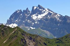 Les bosselures du Midi dans les Alpes français photo libre de droits