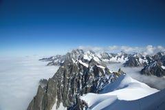 Les bosselures du Midi dans les Alpes suisses image libre de droits