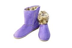 Les bottes d'hiver Photographie stock libre de droits