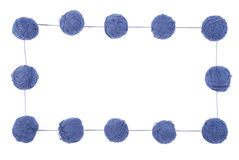 les boucles bleues de fond ont isolé le blanc Image stock