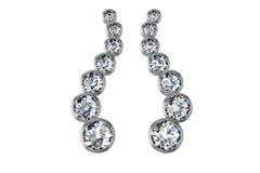 Les boucles d'oreille de diamant de beauté Photos stock