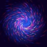 Les boucles de Cosmo brillent la lumière avec la couleur rouge et bleue et la forme en spirale de jaune Images libres de droits