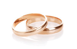 Les boucles de mariage photographie stock