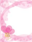 Les boucles de mariage sur le coeur tourbillonne cadre Photographie stock