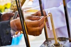 Les bougies d'homme Image libre de droits