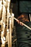 Les bougies de tout le saint Images libres de droits