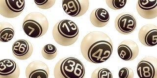 Les boules beiges de nombre de bingo-test/loterie de vecteur ont placé d'isolement illustration libre de droits
