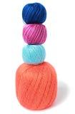 Les boules colorées du fil Image libre de droits