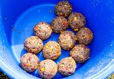 Les boules de l'amorce Photo libre de droits
