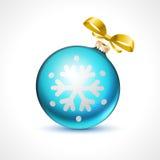 Les boules de Noël dirigent flocon de neige de Noël de célébration de ruban de fond de vacances le nouveau illustration stock