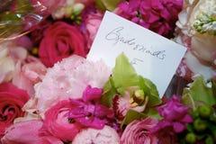 Les bouquets de la demoiselle d'honneur Image stock