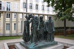 Les bourgeoiss de Calais chez le Musee Rodin, Paris Photographie stock libre de droits