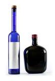 les bouteilles amincissent profondément deux photos stock