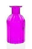Les bouteilles en verre d'isolement sur le fond blanc, verre coloré ont placé sur le fond blanc, verre pour l'eau douce, ensemble Photo libre de droits