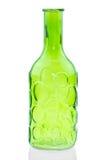 Les bouteilles en verre d'isolement sur le fond blanc, verre coloré ont placé sur le fond blanc, verre pour l'eau douce, ensemble Photos stock