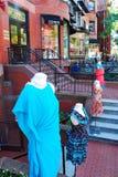Les boutiques de la rue de Newberry, Boston Images libres de droits