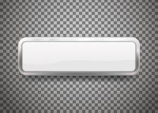 Les boutons avec du chrome encadrent d'isolement sur le fond transparent Illustration de vecteur illustration de vecteur