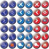 Les boutons ayant à trois positions image libre de droits