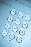les boutons bleus se ferment modifié la tonalité vers le haut du blanc de vue Image libre de droits
