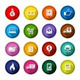 Les boutons colorés par appartement de achat ont placé 01 illustration libre de droits