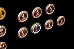 Les boutons d'ascenseur photo stock