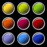 Les boutons de couleur ont placé Image libre de droits