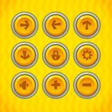 Les boutons de jeu avec des icônes ont placé 1 illustration stock