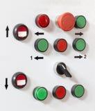 Les boutons de panneau de commande Image libre de droits