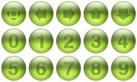 Les boutons en verre ont placé 5 Photo libre de droits