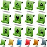 les boutons mettent en rouleau le tapis roulant réglé Photo stock