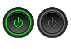 Les boutons mettent sous tension  illustration libre de droits