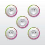Les boutons pour le media player Photographie stock libre de droits