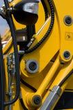 Les boyaux hydrauliques du bêcheur Photographie stock libre de droits