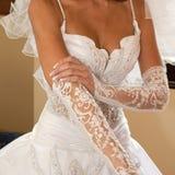 Les bras de la mariée Image libre de droits