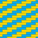 Les briques colorées donnent au fond une consistance rugueuse illustration de vecteur
