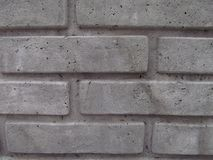 Les briques grises se ferment, grunge, texture Photo libre de droits