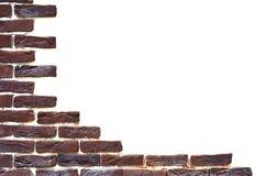 Les briques sur le fond blanc Images stock