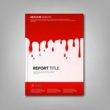 Les brochures réservent ou insecte avec le calibre renversé de couleur rouge Photo stock