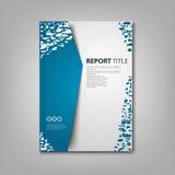 Les brochures réservent ou insecte avec les taches blanches bleues abstraites Image libre de droits