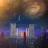 Les brouillards de temple illustration libre de droits