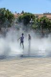 Les brumisateurs Promenade du Paillon Nice Royalty Free Stock Images