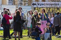 Les bulles de coup de société à VDNH Image stock