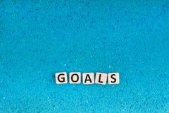 Les buts expriment sur la pierre Image stock